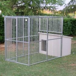 Chenil mod. Eco + niche pour chien mod. Doberman