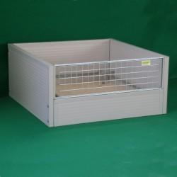 Caisse de mise à bas isolée (fond en bois)
